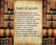 Hopelessly Devoted Bilbliophile: The Reader's Bill of Rights