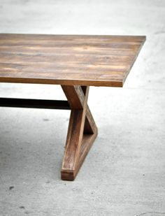 Reclaimed Wood Dining Table - The Kinzua - Custom Furniture - Solid Hardwood - Handmade in the USA - Rustic - Clean lines - Classic by brandMOJOinteriors on Etsy https://www.etsy.com/listing/37158520/reclaimed-wood-dining-table-the-kinzua