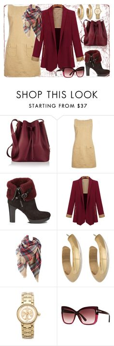 Maroon Swoon by ellary-branden on Polyvore featuring mel, UGG Australia, Sophie Hulme, Tory Burch, House of Harlow 1960 and Tom Ford