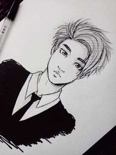 art exo Kyungsoo exo fanart kyungsoo who doesn't look like kyungsoo i'm still alive tho sick but alive kinda looks like Kai