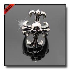 OWN IT SKULL CROSS RING