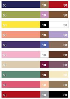 These are a few of my favorite things: #47 – 60/30/10 Color Design Rule