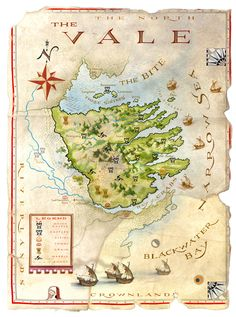 The World Of Ice And Fire: The Vale map by Michael Gellatly