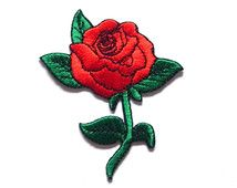 Red Rose Applique Iron on Patch