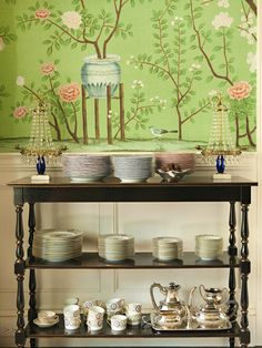 For dining room ....Mix and Chic: Cool designer alert- Lee Ann Thornton!