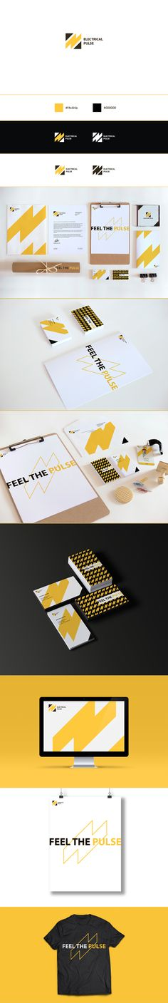 Electrical Pulse - Brand Identity on Behance                                                                                                                                                      More