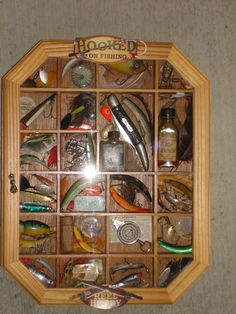A collection of antique fishing lures and related items that I put together for the Fisherman who has everything else! Best Fishing Lures, Vintage Fishing Lures, Fishing Tips, Bass Fishing, Fishing Tackle, Fishing Crafts, Fishing Store, Gone Fishing, Fishing Adventure