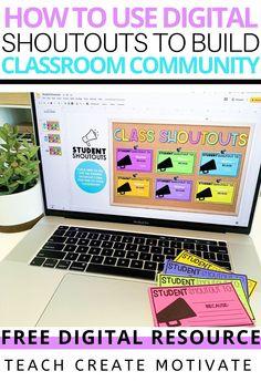 Building Classroom Community, Classroom Routines, Community Activities, 4th Grade Classroom, Classroom Environment, Teaching, Virtual Class, Positive Things, Google Classroom