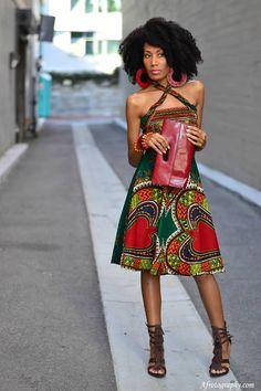 Dress in Regal African Style it seems so organic
