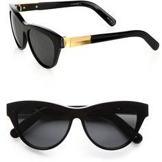 Elizabeth and James Charlton Cat's-Eye Wayfarer Sunglasses ($185) ❤ liked on Polyvore