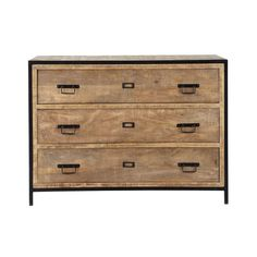 Discover Maisons du Monde's Solid Mango Wood and Metal Industrial Drawer Chest. Browse a varied range of stylish affordable furniture to add a unique touch to your home. Industrial Dresser, Industrial Furniture, Industrial Style, Affordable Furniture, Unique Furniture, Home Furniture, Repurposed Furniture, Bedroom Furniture, Furniture Ideas
