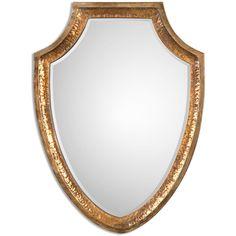 Uttermost Lumarzo Antiqued Gold Mirror