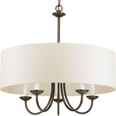 Progress Lighting 5-Light Antique Bronze Chandelier-P4217-20 - The Home Depot- Kitchen Nook