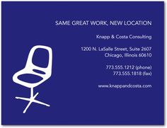 Office Space - Business Moving Announcements - polly paper - Sapphire - Blue : Front