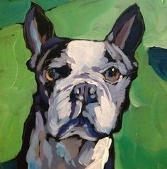 """Daily Paintworks - """"Throw to ME!"""" - Original Fine Art for Sale - © Kat Corrigan"""
