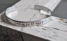 Personalized Handstamped Cuff Bracelet  Choose by jessicaNdesigns, $21.00