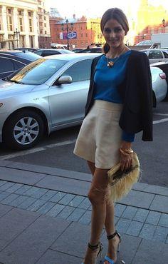Trendencias - ¿Shorts lisos o estampados? Olivia Palermo se decanta por ambos