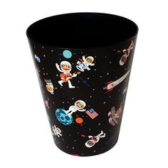 Papelera Multiusos Space de Paul Frank, negro