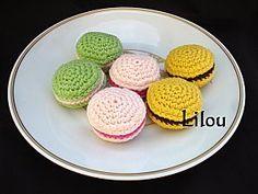 Macarons au crochet- Instruction French
