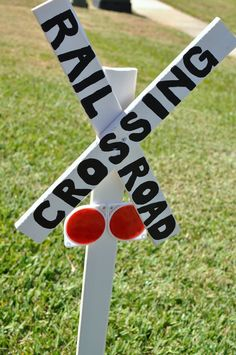 train party crossing sign