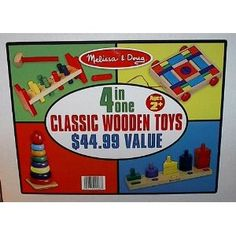 Only $23 for four classic wood toys - seems like a great deal!