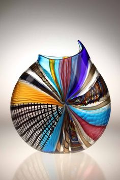 Art Glass Adaptable Murano Crystal Art Glass Free Form Splash Bowl With Stunning Intense Colour Pottery & Glass