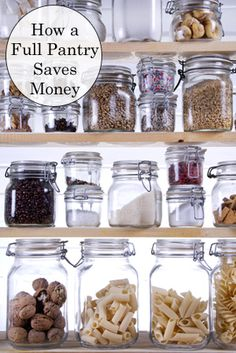 Stocking a Pantry to Save Money