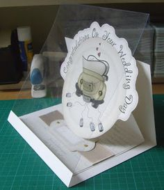 The Clipart Fairy: Picture Tutorial on making the Wedding Car Easel Card & Box