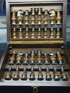 Jogo De Xadrez Antigo in Brinquedos e hobbies, Jogos, Xadrez | eBay