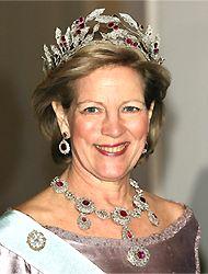 Greek Ruby Parure; part of the Greek Crown Jewels. Worn by Queen Anne-Marie of Greece.