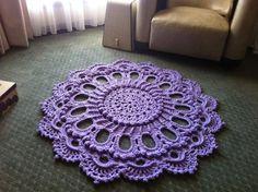 Luxuriöse Gehäkelte Deckchen Teppich  Splendid  von MissyDDesigns