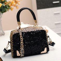 Women Sequin Leopard Messenger Cross Shoulder Bag Handbag Fashion Satchel Tote #Unbrand #MessengerCrossBody