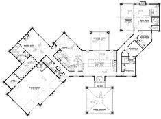 Contemporary Floor Plan - Main Floor Plan Plan #17-3390