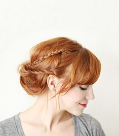 braided_chignon_beautiful_mess_how_to_be_a_redhead_wedding_hairstyles — How to be a Redhead