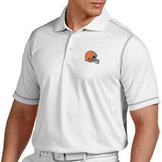 Antigua Cleveland Browns Historic Logo Icon Polo - White - $56.99