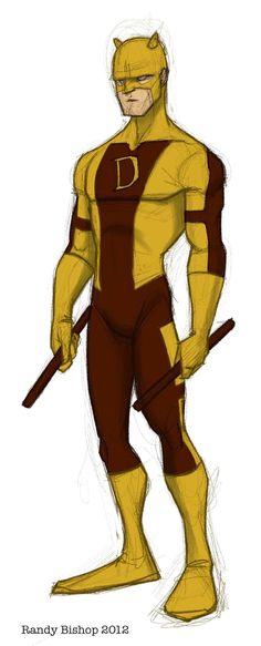 Daredevil redesign by randybishopart.deviantart.com on @deviantART