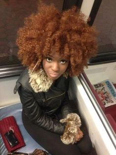 Banging,,,her hair is GORGEOUS!!! LOVE the color!!!