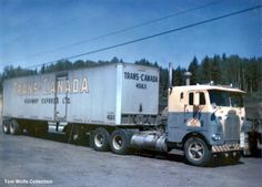 A White Freightliner truck belonging to Public Freightways. Taken in 1959.