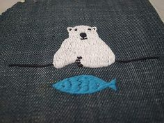 Enbroidery black bear / シロクマ刺繍