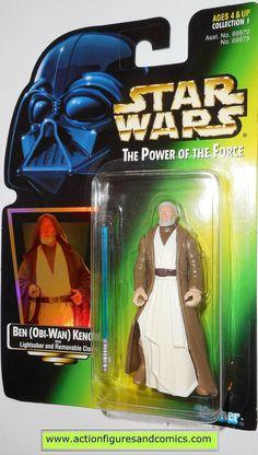star wars action figures BEN OBI WAN KENOBI green card power of the force toys moc