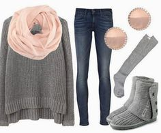 Fantastic Comfy Winter Outfit... Just swap the booties for some super warm and comfy black riding boots.