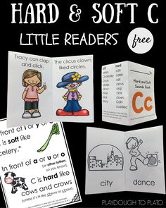 FREE little readers teaching kids how to read soft and hard C. Such a helpful teaching tool!