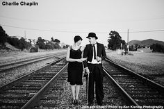 NewYorkDress Blog // Creative Engagement Photos // Click here for more magical couples! // #CharlieChaplin