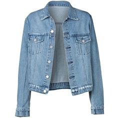 CAMPBELL JACKET (910 BRL) ❤ liked on Polyvore featuring outerwear, jackets, denim jackets, tops and blue jackets