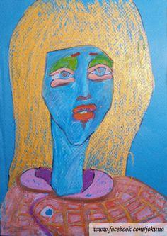 <파란소녀, Blue girl, oil pastel, 2009>