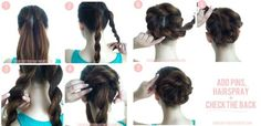 Quick hairstyles for a wet hair Braid bun – BEAUTIFUL SHOES