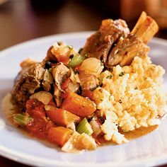 Joshua Wesson substitutes full-flavored lamb for the usual mild veal in his version of this classic Italian stew with tomatoes, onions and carrots.  ...