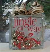 ** Christmas Glass Block Decorations