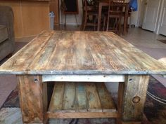 From Pallet To Coffee Table! Living Room Pallet Projects Pallet Coffee Tables