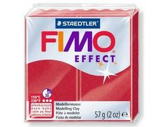 The FIMO Effect Metallic Ruby Red Modelling Clay 57g from the modelling materials range is designed to be used with FIMO Professional, Soft and Kids modelling clays to achieve special effects.